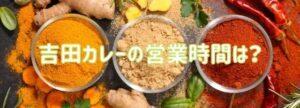 吉田カレーの営業時間